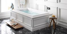 Kohler tub with wainscoting