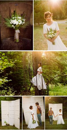 Rustic Wedding...such a pretty dress!