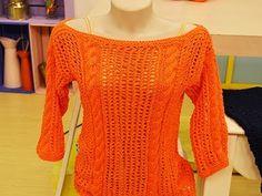 Blusa Anne com tranças em tricô por Claudia Maria