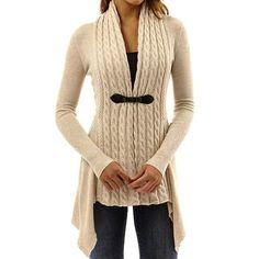 Winter Long Sleeves Women Cardigan Twist Knitted. Chaquetas De Punto  MujerChaqueta ... 47eacb88275e