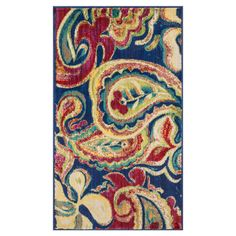 Found it at Wayfair - Isabelle Blue/Multi Rug