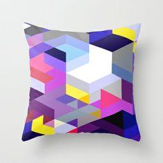 Pink Diamonds Throw Pillow by House of Jennifer - $20.00