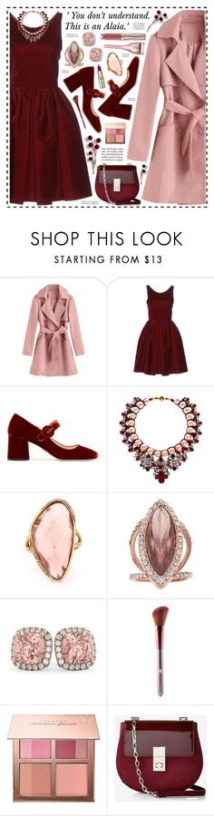 """""""This is an Alaia!"""" by hennie-henne ❤ liked on Polyvore featuring Alaïa, Prada, Shourouk, Mark Broumand, Jennifer Lopez, Allurez, Sephora Collection, Express, Urban Decay and L'Oréal Paris"""