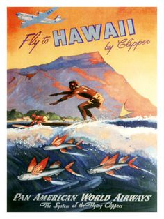 Pan Am Surf travel poster