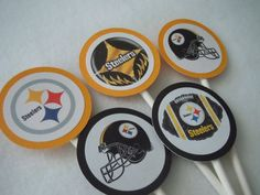 Steeler Cupcake Toppers