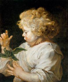Boy with Bird - Peter Paul Rubens