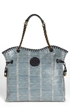 Tory Burch 'Marion Patchwork' Leather Tote available at #Nordstrom