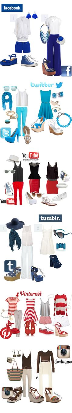 Women's fashion inspired by social media sites