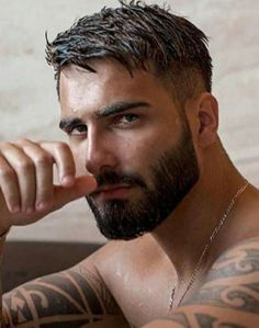 Scruffy Men, Hairy Men, Bearded Men, Male Model Face, Male Face, Beard Styles For Men, Hair And Beard Styles, Beautiful Men Faces, Gorgeous Men