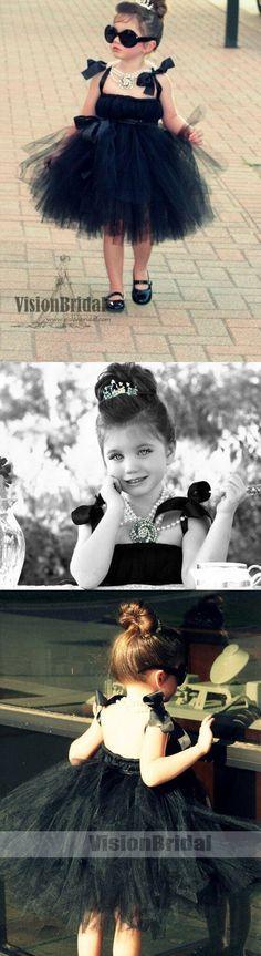 Cool Black Tulle Little Girl Dresses Affordable Flower Girl Dresses Little Black Dress Cute Flower Girl Dresses, Little Girl Dresses, Flower Girls, Girls Dresses, Girl Art Picture, Affordable Dresses, Tulle Dress, Dream Dress, Art Girl