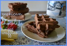Vegan Mexican Chocolate Waffles from An Unrefined Vegan