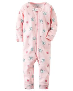 1-Piece Snug Fit Footless Cotton PJs
