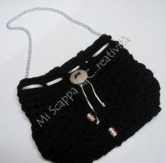Borsa in fettuccia  Handmade crochet bag  www.miscappalacreativita.com