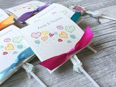 Gastgeschenke - Gastgeschenke zur Hochzeit mit Lollies Color - ein Designerstück von Kunstundtext bei DaWanda