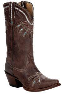 Tony Lama®Vaquero™Ladies Chocolate Rancho w/Cleopatra Stitch Snip Toe Western Boot | Cavender's
