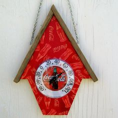 Hanging Thermometer Coke Coca Cola Handmade by trulytexas on Etsy, $19.95