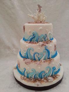Torte di compleanno tema mare cerca con google party for Decorazioni torte tema mare