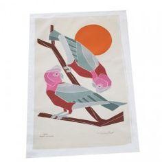 Organic Cotton Australian Bird Tea Towel - Galah
