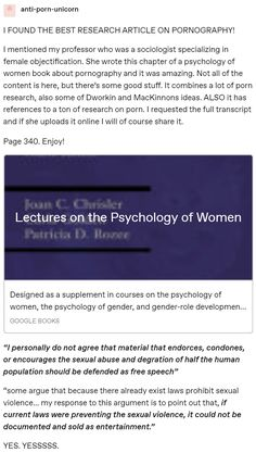 Lectures on the Psychology of Women The More You Know, Good To Know, A Silent Voice, Anti Racism, Patriarchy, Faith In Humanity, My Tumblr, Social Issues, Social Justice