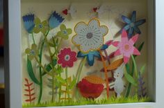 Happy Spring flowers Diorama