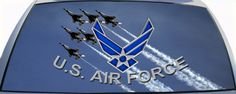 U.S. Air Force  Rear Window Graphic Mural. Get your Air Force rear window graphic mural today to put on your car or truck rear window.