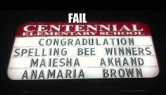 In fairness, I don't think Maiesha or Anamaria put the letters on this sign....