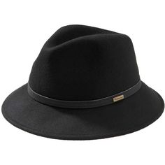 Women s Barbour Kirkcaldy Trilby Hat - Black ( 73) ❤ liked on Polyvore  featuring accessories bb80036095fe