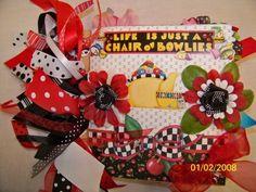 Mary Englebreit themed paper bag scrapbook album