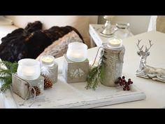 DIY Beton für Kreative, Weihnachtsdeko aus Verpackungen selbstgemacht - YouTube