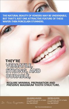 In as little as two visits, Dr Nico Moghtader whitens stained and discolored teeth, closes gaps, and creates a more #balanced #smile with veneers.