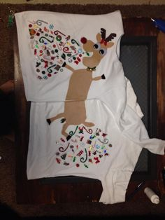Couple's Ugly Christmas Sweaters!
