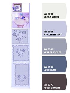 Violet Hues from Chip It! by Sherwin-Williams