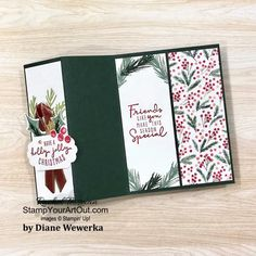 Stampin Up Christmas, Christmas Cards To Make, Christmas Greeting Cards, Greeting Cards Handmade, Holiday Cards, Christmas Night, Christmas Ideas, Christmas Crafts, Fancy Fold Cards