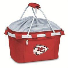 Kansas City Chiefs Picnic Basket Tailgating Tote Bag