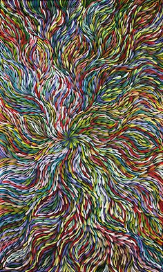 Australian Aboriginal Art - Painting By Janet Golder Kngwarreye Aboriginal Painting, Aboriginal Artists, Dot Painting, Indigenous Australian Art, Indigenous Art, Australian Artists, Aboriginal Culture, Tribal Art, Love Art