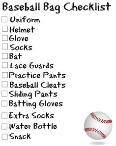 Tee Ball / Baseball Schedule Blank Calendar FREE Printable