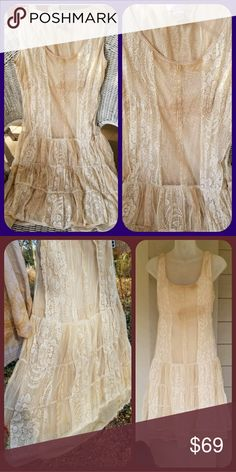 DIY TEA STAINED Lace Dress EXQUISITE PRAIRIE Boho ahhsome dress I  personally tea stained. d3e58f141