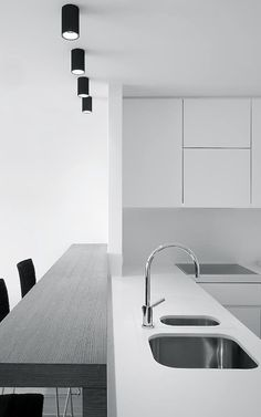 #interior design #kitchen design #white interiors #countertops #minimalism - Het-Atelier | Project 2