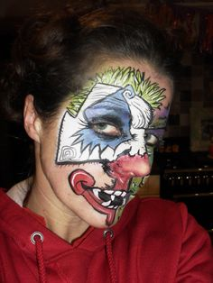 joker face painting