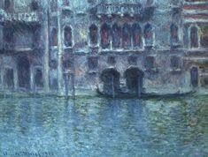 overstockArt Palazzo da Mula at Venice 1908 Framed Oil Reproduction of an Original Painting by Claude Monet Varies