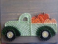 String art pumpkin truck by my2heARTstrings on Etsy