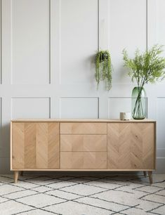 Bergen Solid Oak Sideboard at Rose & Grey. Buy online now from Rose & Grey, eclectic home accessories and stylish furniture for vintage and modern living Unique Furniture, Sofa Furniture, Rustic Furniture, Vintage Furniture, Furniture Design, Furniture Ideas, Living Room 70s, Scandi Living Room, Solid Oak Sideboard