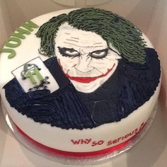 Joker Birthday Cake  http://www.buddyshomebakery.co.uk/