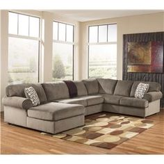Jessa Place - Dune Casual Sectional Sofa with Left Chaise by Signature Design by Ashley Furniture at Sam's Furniture & Appliance
