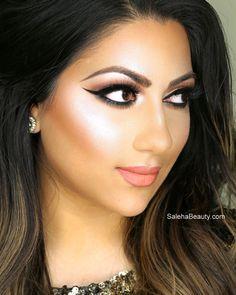 Best Wedding Makeup Highlighter : Party makeup by saleha abbasi Model bridal makeup ...