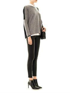 VINCE Round-neck cashmere sweater