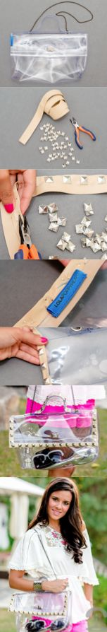 DIY Studded Transparent Bag