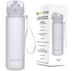 Brimma 18 Oz Sports Water Bottle - White
