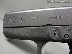 """Glock 36 subcompact .45acp with 3.78"""" polygonal barrel and two (2) 6 round magazines, fixed sights, cleaning rod and brush, lock, and hard case. Glock part# 3650201"""