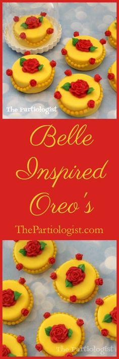 Belle - Beauty & the Beast Rose Oreos